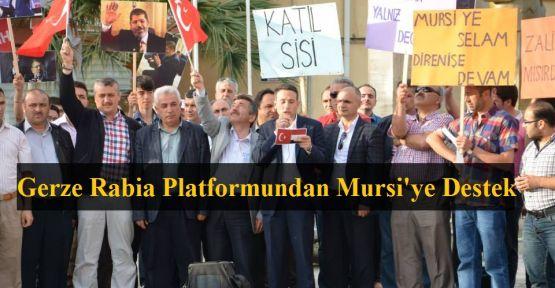 Gerze Rabia Platformu'ndan Mursi'ye destek