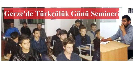 Gerze Ülkü Ocakları Türkçülük Günü Semineri Düzenledi