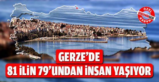 Gerze'de En Çok Hangi Şehirden İnsanlar Yaşıyor?