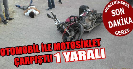 Gerze'de Otomobil ile Motosiklet Çarpıştı: 1 Yaralı