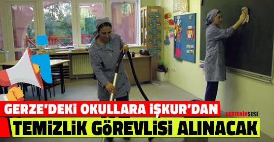 Gerze'deki Okullara İŞKUR'dan Temizlik Görevlisi Alınacak