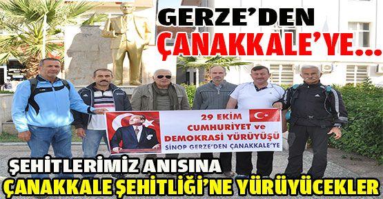 Gerze'den Çanakkale'ye Yürüyecekler