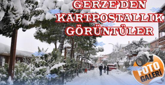 GERZE'DEN EŞSİZ KAR MANZARALARI