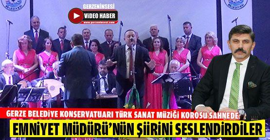 Gerzeli Sanatçılar, Sinop Emniyet Müdürü'nün Şiirini Seslendirdi