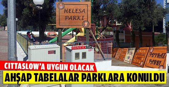 Gerze'nin Parklarına El Yapımı Ahşap Tabelalar Asıldı