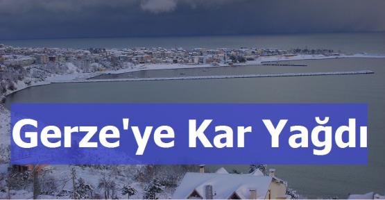 Gerze'ye Kar Yağdı