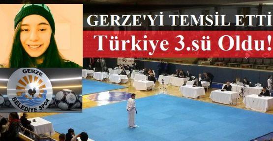 Gerze'yi Temsil Etti, Türkiye 3.sü Oldu!