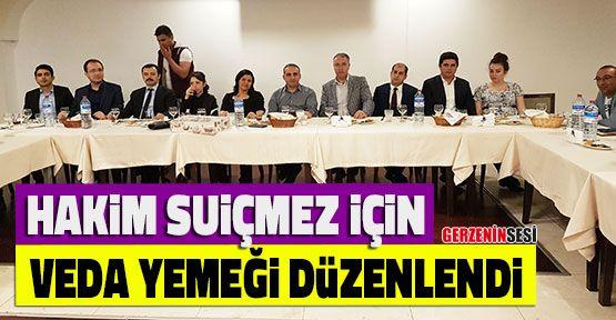 Hakim Esin Türkel Suiçmez'e Veda Yemeği Düzenlendi