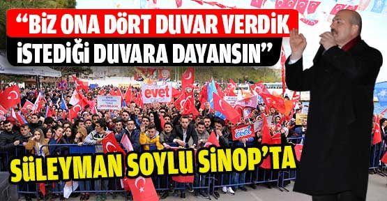 İçişleri Bakanı Soylu Sinop'ta