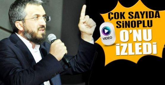 İlahiyatçı Yazar Dr. İhsan Şenocak Sinop'ta