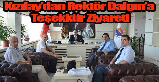 Kızılay'dan Rektör Dalgın'a Teşekkür Ziyareti