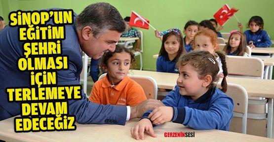 """Maviş: """"Sinop'un Bir Eğitim Şehri Olması İçin Terlemeye Devam Edeceğiz"""""""
