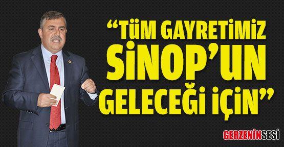 """Maviş: """"Tüm Gayretimiz Sinop'un Geleceği İçin"""""""