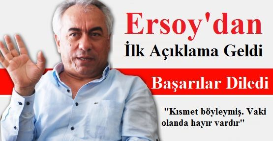 Mehmet Ersoy, listelerin açıklanması ardından konuştu