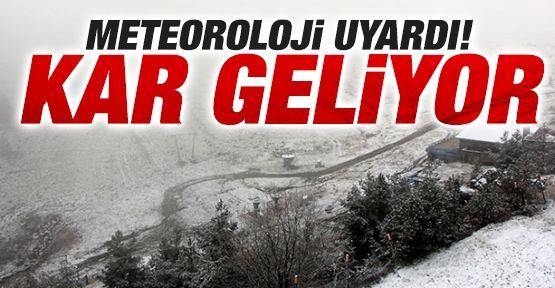 Meteoroloji Bölge Müdürlüğü Kar Yağışına Karşı Uyardı
