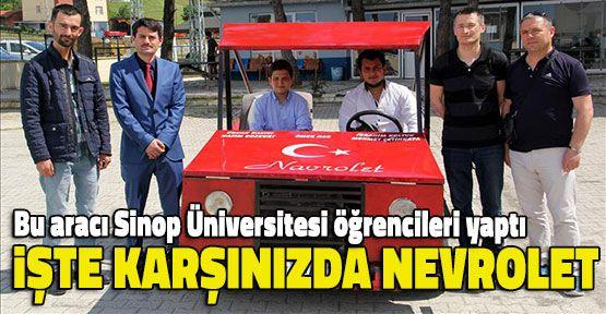 """""""Navrolet""""i Sinop Üniversitesi Öğrencileri Yaptı"""