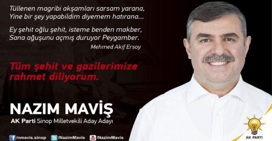 Nazım Maviş'ten Çanakkale Zaferi Mesajı