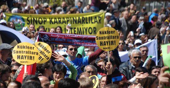 """On binler Sinop'tan """"Nükleere Hayır"""" dedi"""