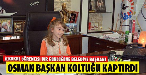 Osman Başkan Koltuğunu İlkokul Öğrencisine Bıraktı