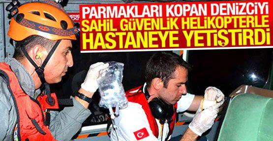 Parmakları Kopan Denizciye Yardım Sinop'tan Gitti