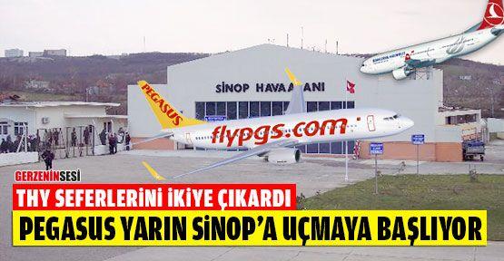Pegasus Yarından İtibaren Sinop'a Uçmaya Başlıyor
