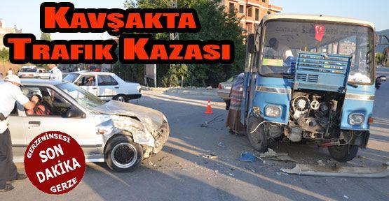 Samsun Sinop karayolu üzerinde trafik kazası meydana geldi