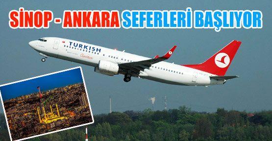 Sinop - Ankara Uçak Seferleri 2017'de Başlıyor