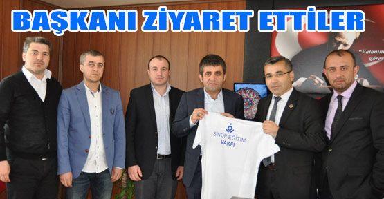 Sinop Eğitim Vakfından Başkan İstanbullu'ya Ziyaret