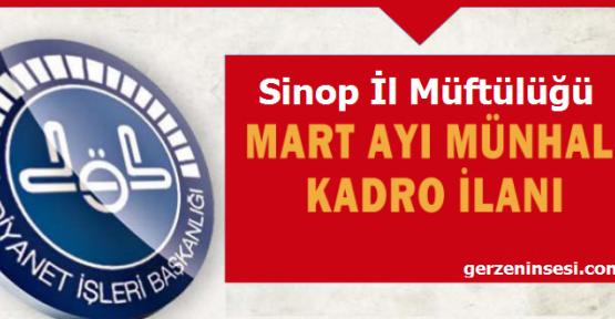 Sinop İl Müftülüğünden Münhal Kadro Duyurusu!