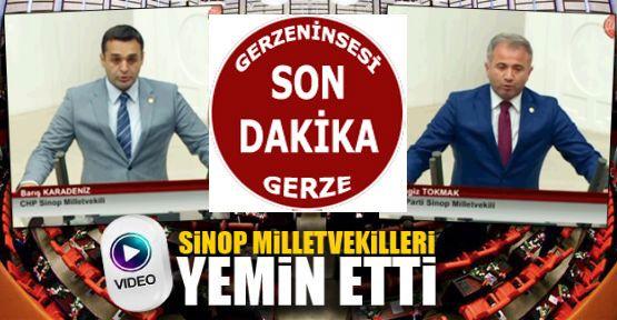Sinop milletvekilleri yemin ederek görevlerine resmen başladı