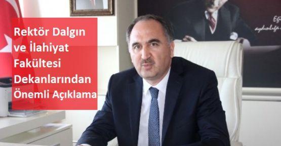 Sinop Üniversitesi İlahiyat ve İslâmi İlimler Fakülte Dekanlarından Açıklama