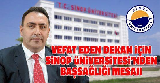 Sinop Üniversitesi'nden Başsağlığı Mesajı