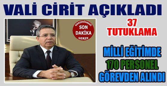 Sinop Valisi 116 Zanlıdan 37 Zanlının Tutuklandığını Söyledi