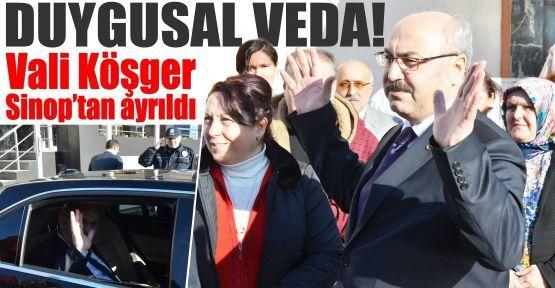Sinop Valisi Köşger, kentten ayrıldı