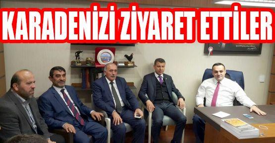 Sinoplu Belediye Başkanları Karadeniz'i Makamında Ziyaret Etti