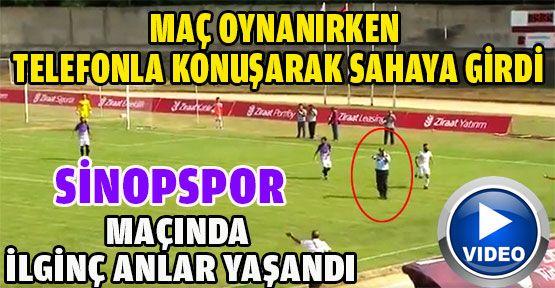 Sinopspor ile Yeni Amasyaspor maçında ilginç anlar yaşandı