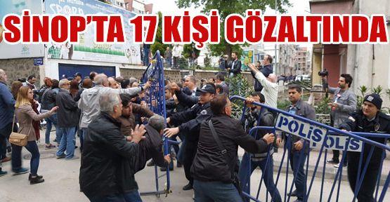Sinop'ta Şok Gözaltı