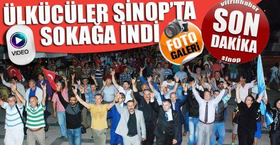 Sinop'ta ülkücüler sokağa indi