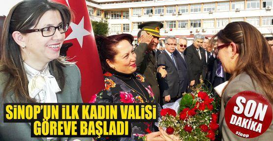 Sinop'un İlk Kadın Valisi Göreve Başladı