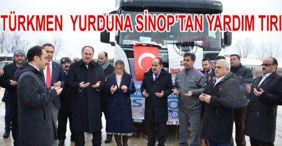 Sinop'un yardım TIR'ı yola çıktı