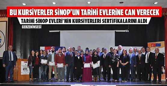 Tarihi Sinop Evleri Kursiyerleri Sertifikalarını Aldı