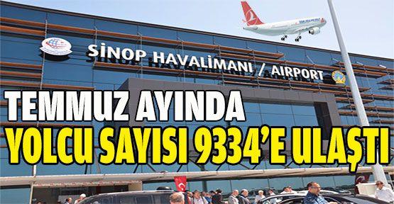 Temmuz'da 9334 yolcu uçtu