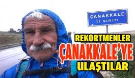 Rekortmen Yürüyüşçüler Çanakkale'ye Ulaştılar