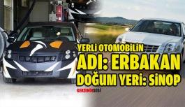 "Yerli Otomobil ""Erbakan"" Sinop'ta..."
