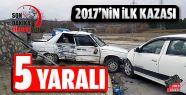 2017''nin İlk Kazası: 5 Yaralı