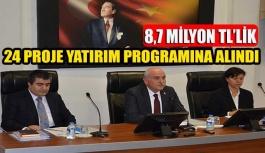 8,7 Milyonluk 24 Adet Proje 2018 Yatırım Programına Alındı