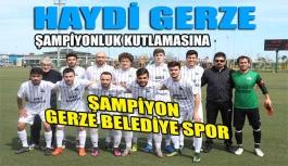 Gerze Belediye Spor Şampiyon Oldu
