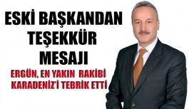 Ergün'den teşekkür mesajı