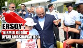 Mehmet Ersoy 'Kırmızı Düdük' uygulamasına katıldı