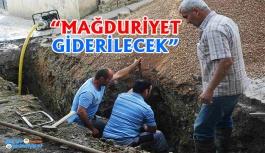 Zarar gören kanalizasyon hatları onarılıyor